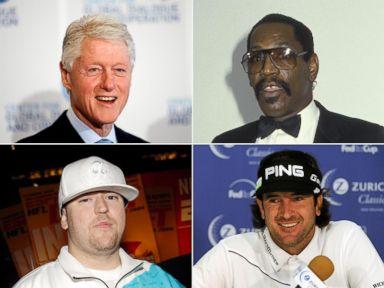 PHOTO: Clockwise from left, Bill Clinton, Bubba Smith, Bubba Watson and Bubba Sparxxx.