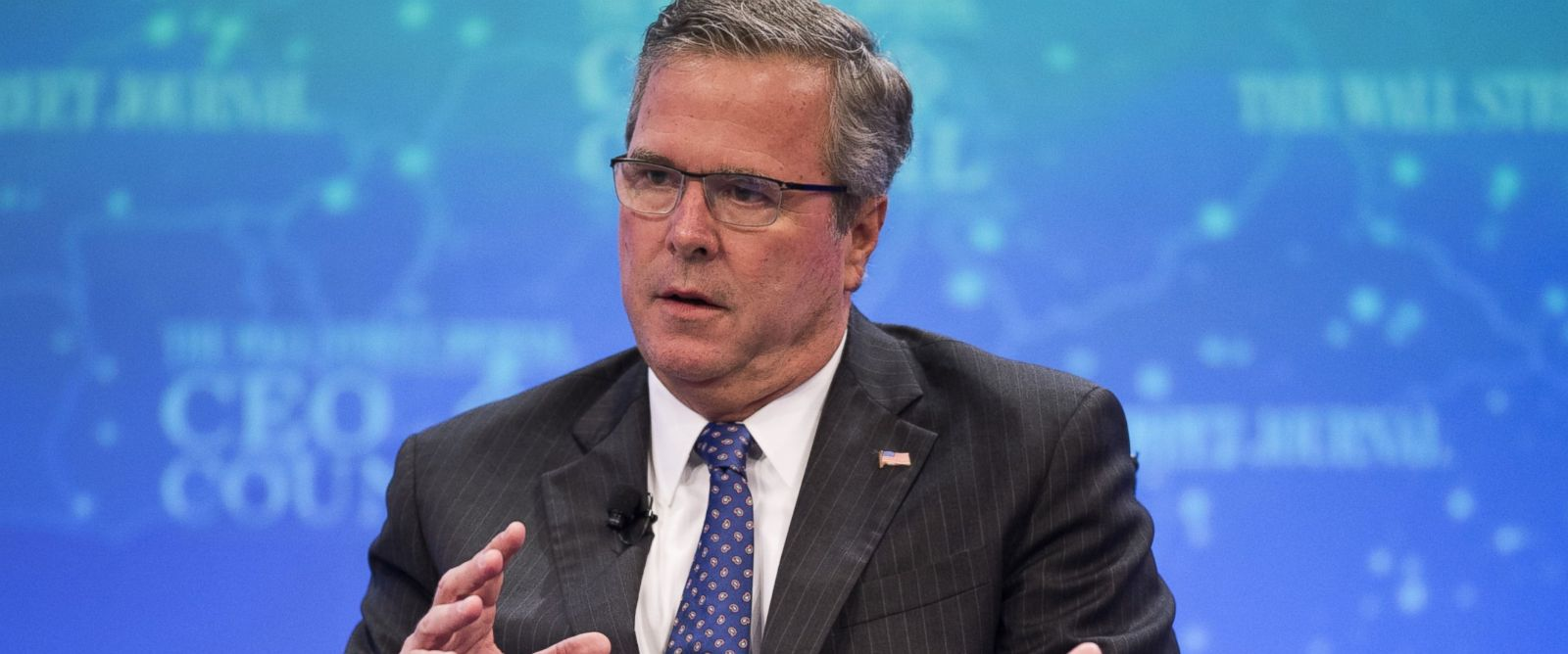 PHOTO: Former Florida Governor Jeb Bush speaks during the Wall Street Journal CEO Council in Washington, D.C. on Dec. 1, 2014.