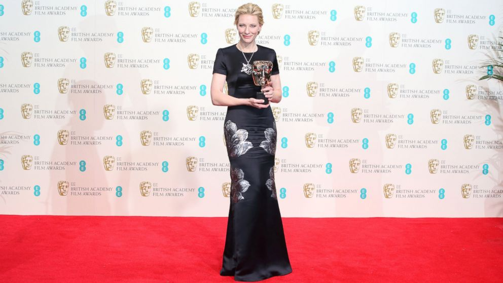 PHOTO: Cate Blanchett poses in the winners room at the EE British Academy Film Awards 2014 at The Royal Opera House, Feb. 16, 2014, in London.