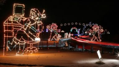 PHOTO: Annual Fantasy of Lights opens for the 17th year at New Havens Lighthouse Point Park, Dec. 20,2013, in New York City.