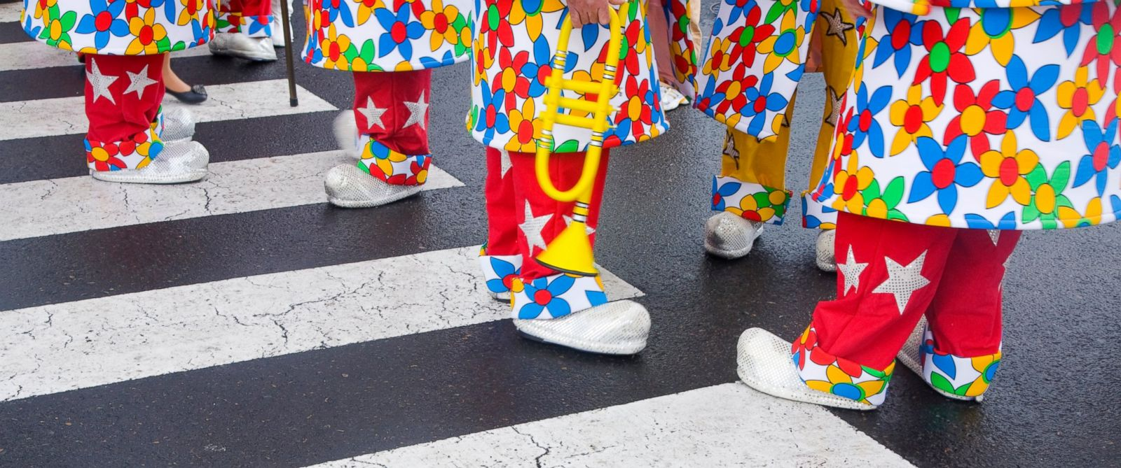 """PHOTO: A """"Clown Lives Matters"""" march in Tucson, Arizona was cancelled due to death threats."""