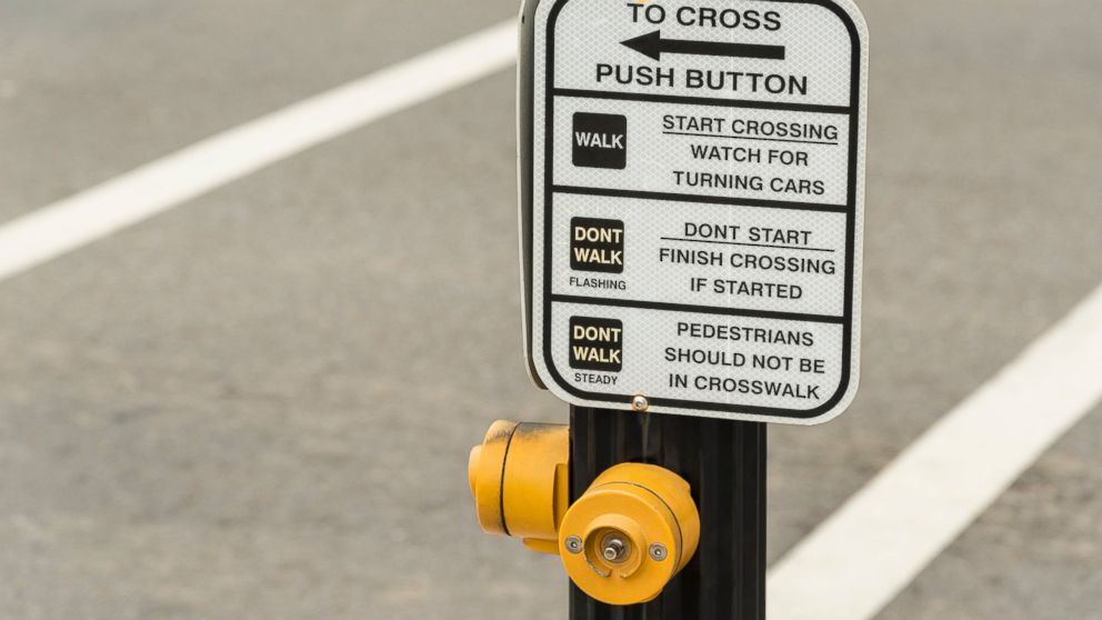 PHOTO: A pedestrian crosswalk button is visible in this stock photo.