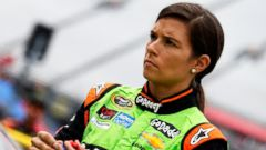 PHOTO: Danica Patrick, driver of the #10 GoDaddy Chevrolet, stands in the garage area during practice for the NASCAR Sprint Cup Series Irwin Tools Night Race at Bristol Motor Speedway, Aug. 22, 2014 in Bristol, Tenn.