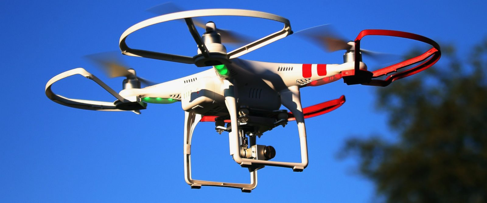 PHOTO: A drone is flown for recreational purposes in the sky above Old Bethpage, N.Y. on Sept. 5, 2015.