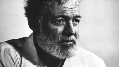 PHOTO: Portrait of American author Ernest Hemingway.