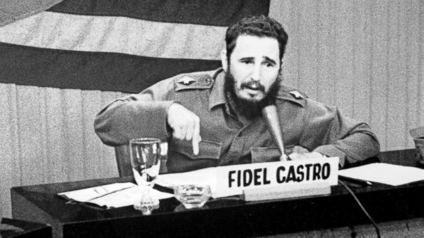 PHOTO: Prime Minister Fidel Castor gives a radio and televised speech, Oct. 22, 1962.