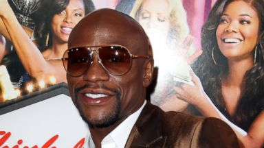 "PHOTO: Boxer Floyd Mayweather attends the Premiere Of Screen Gems ""Think Like A Man Too"" at TCL Chinese Theatre, June 9, 2014, in Hollywood, Calif."