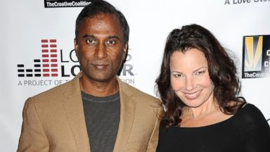 "PHOTO: Fran Drescher and Shiva Ayyadurai attend the premiere of ""Bridegroom"" at AMPAS Samuel Goldwyn Theater, Oct. 15, 2013, in Beverly Hills, Calif."