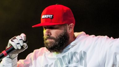 PHOTO: Fred Durst of Limp Bizkit performs on stage on Day 3 of Download Festival 2013 at Donnington Park, June 16, 2013 in Donnington, England.