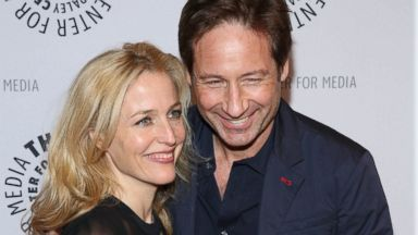 "PHOTO: Gillian Anderson and David Duchovny attend ""The Truth Is Here: David Duchovny And Gillian Anderson On The X-Files"" presented by the Paley Center For Media, Oct. 12, 2013, in New York City."