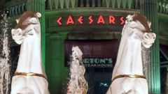 PHOTO: The exterior fountain at Caesars Atlantic City Hotel and Casino in Atlantic City, N.J., May 6, 2009.