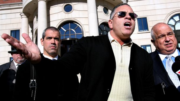 "PHOTO: John A. ""Junior"" Gotti son of the late Gambino family crime boss, speaks after a hearing on his tax payment status outside the Federal Court House in White Plains, New York, Nov. 27, 2007."