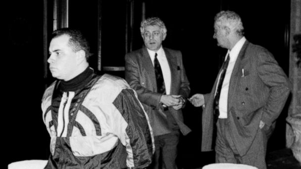 PHOTO: John A. Junior Gotti leaves Manhattan Correctional Facility with Peter Gotti, right and Jack DAmico after visiting his father, John Gotti.