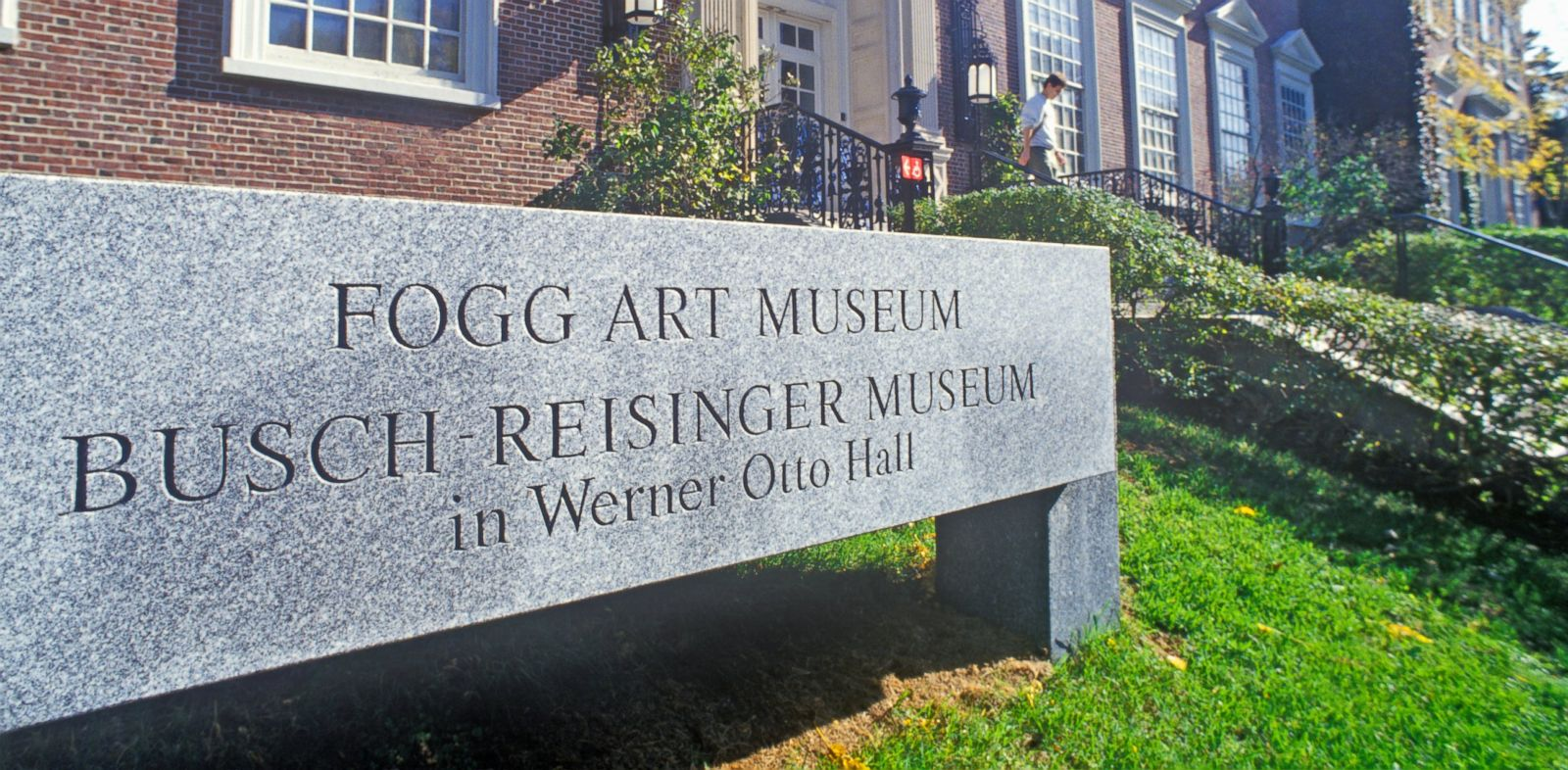 PHOTO: In this undated file photo, Harvards Fogg Museum is pictured in Cambridge, Mass.