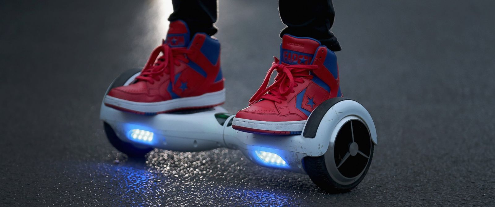 PHOTO: This file photo shows a youth riding a hoverboard, Oct. 13, 2015 in Knutsford, England.