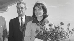 PHOTO: President Kennedy stands on a Texas airstrip with Jackie Kennedy and Governor John Connally, Nov. 22, 1963.