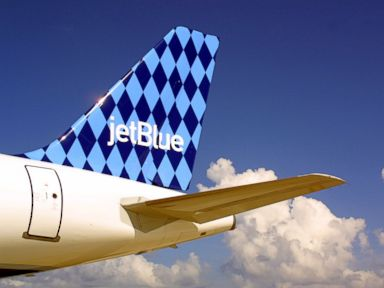 PHOTO: A JetBlue Airways airbus A320 jet sits on the tarmac in this undated file photo.