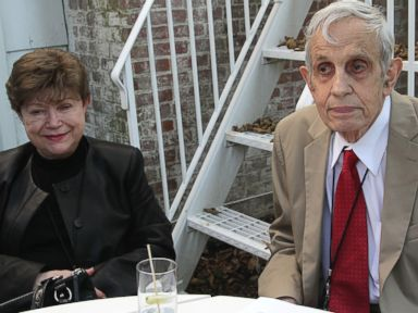 PHOTO: John Nash and wife Alicia Nash attend the Nobel Laureate Exhibition Reception during the 20th Hamptons International Film Festival at The Maidstone Hotel on Oct. 5, 2012 in East Hampton, New York.