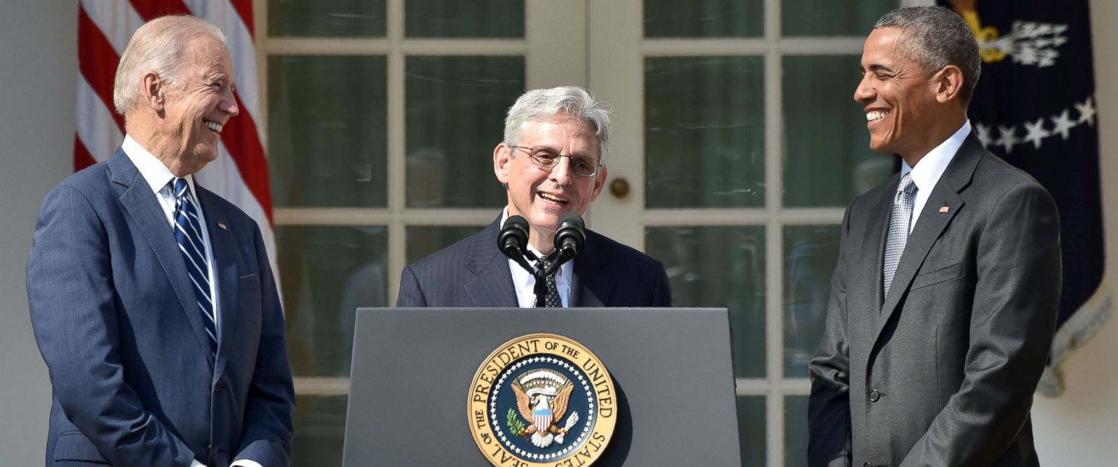 PHOTO: Judge Merrick Garland speaks, after President Barack Obama announced Garlands nomination to the US Supreme Court, in the Rose Garden at the White House in Washington, March 16, 2016.