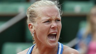 PHOTO: Kiki Bertens is pictured at the Roland Garros stadium in Paris on June 2, 2014.