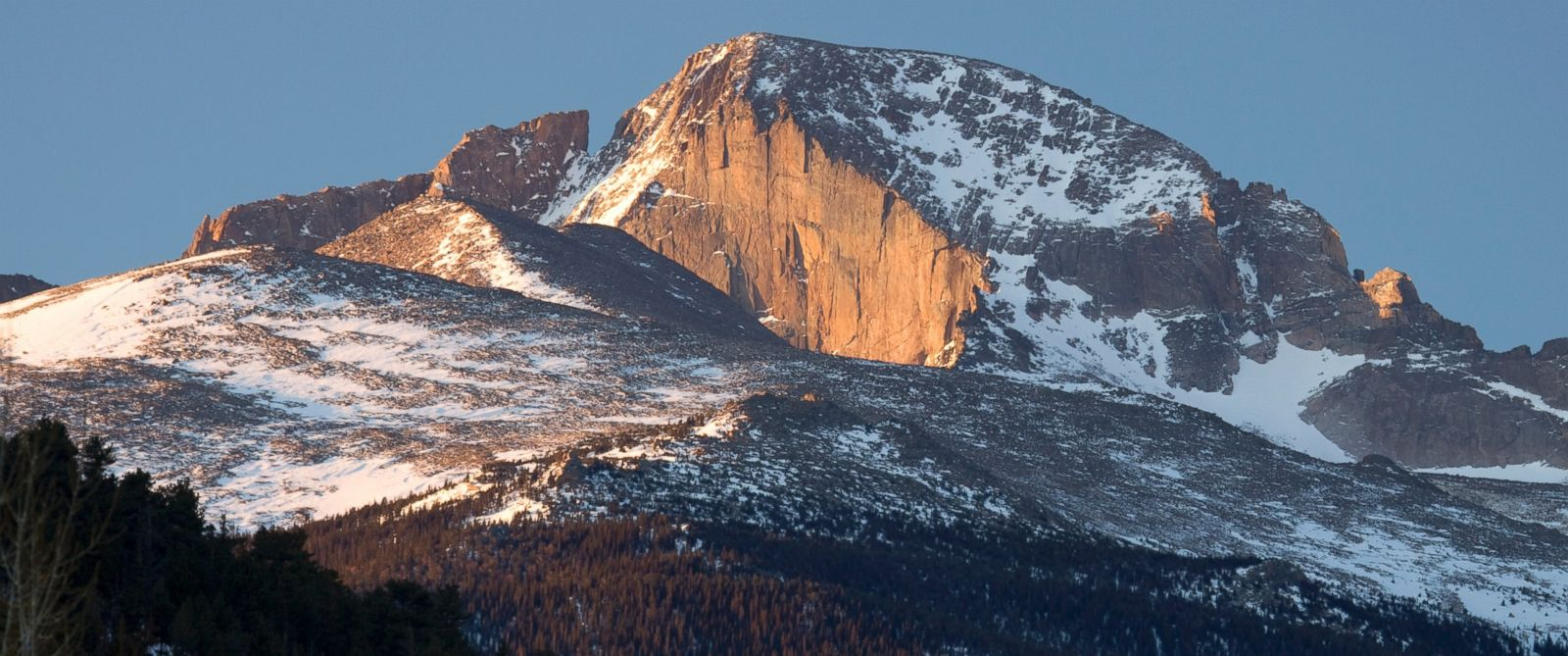 PHOTO: A climber was stuck 13,000 ft up on the face of Longs Peak.