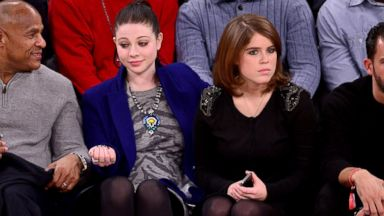 PHOTO: Michelle Trachtenberg and Princess Eugenie of York attend the Atlanta Hawks vs New York Knicks game at Madison Square Garden, Dec. 14, 2013, in New York City.