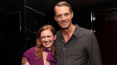 "PHOTO: Actors Mireille Enos and Joel Kinnaman attend ""The Killing"" ATAS Screening and Panel at the Leonard H. Goldenson Theater on May 8, 2012 in North Hollywood, Calif."