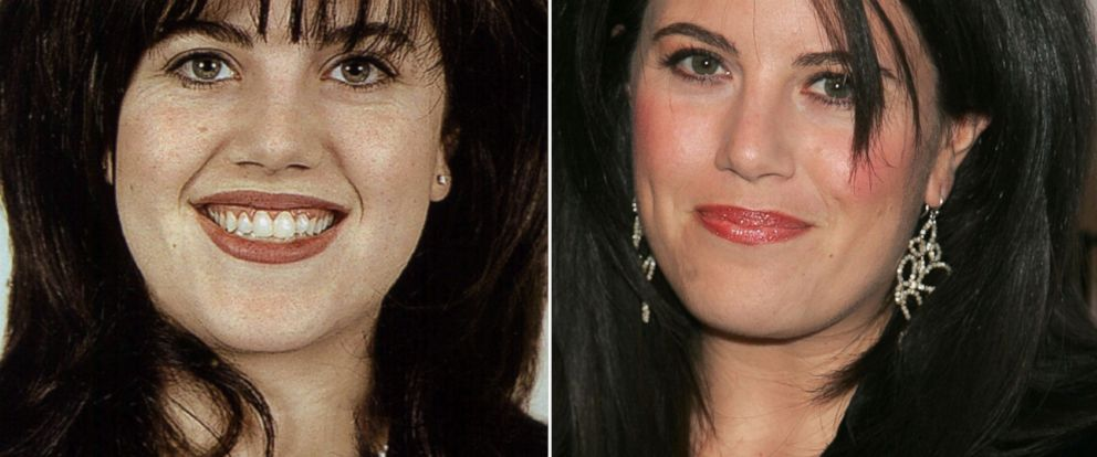 PHOTO: Monica Lewinsky, a former White House intern and Department of Defence employee, Jan. 22, 1998. | Monica Lewinsky attends the Mens Health & Best Life exhibition, Dec. 5, 2006 in New York City.