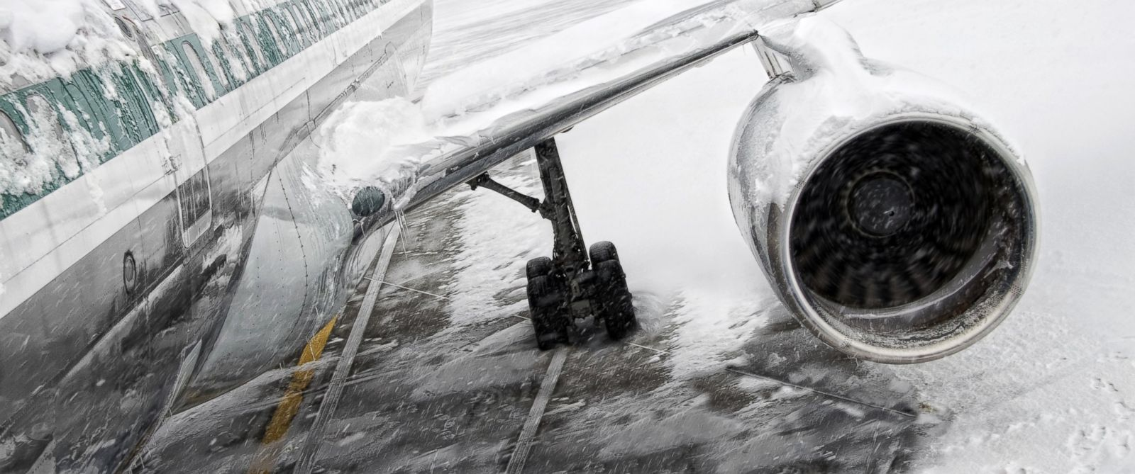 PHOTO: A plane is seen in the snow in this file photo.