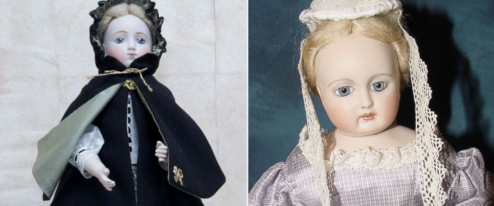 """PHOTO: Becca Hisle, porcelain doll maker, suspects the life-like eyes of porcelain dolls are what makes them so """"spooky."""""""
