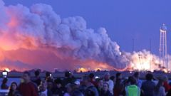 PHOTO: An unmanned rocket owned by Orbital Sciences Corporation explodes on Oct. 28, 2014 in Wallops Island, Va.