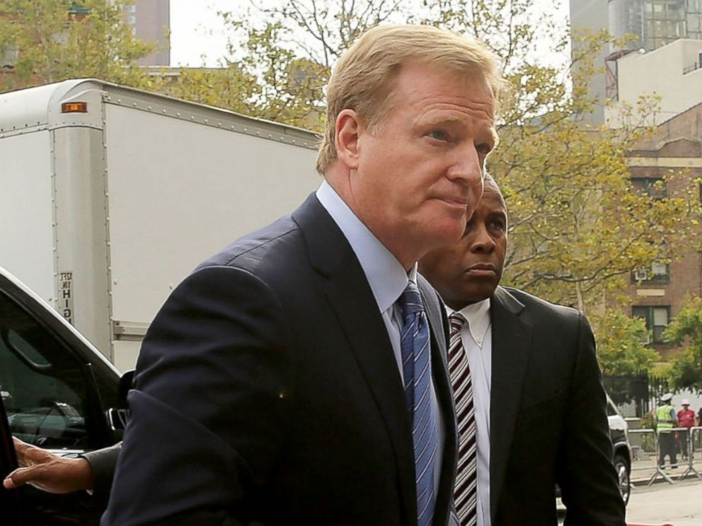 PHOTO: NFL Commissioner Roger Goodell arrives at federal court for a lawsuit over Quarterback Tom Brady of the New England Patriots four game suspension, Aug. 31, 2015, in New York City.