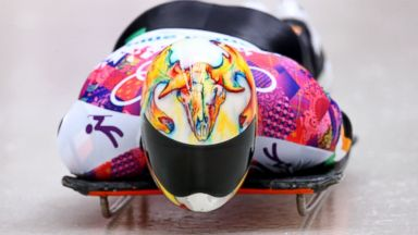 PHOTO: Sean Greenwood of Ireland makes a run during the mens skeleton competition at the Sochi 2014 Winter Olympics on Feb. 15, 2014 in Sochi, Russia.