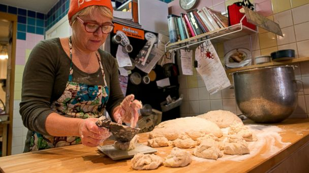 PHOTO: Anna Tvinnereim, owner of The Beaches Bake Shop and Cafe, is preparing Semla buns (a Swedish pastry, March 3, 2014, for Lent.