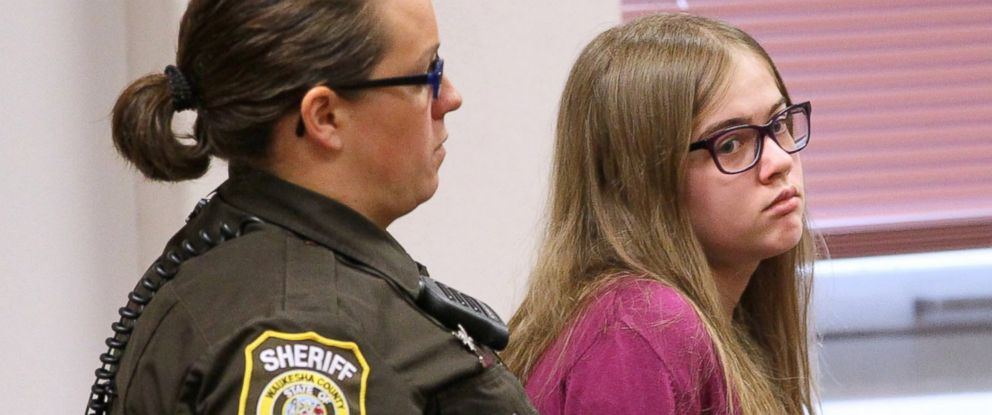 PHOTO: Morgan Geyser in court on August 21, 2015, during the arraignment of the Slender Man stabbing trial in Waukesha County Court in Waukesha, Wisconsin.