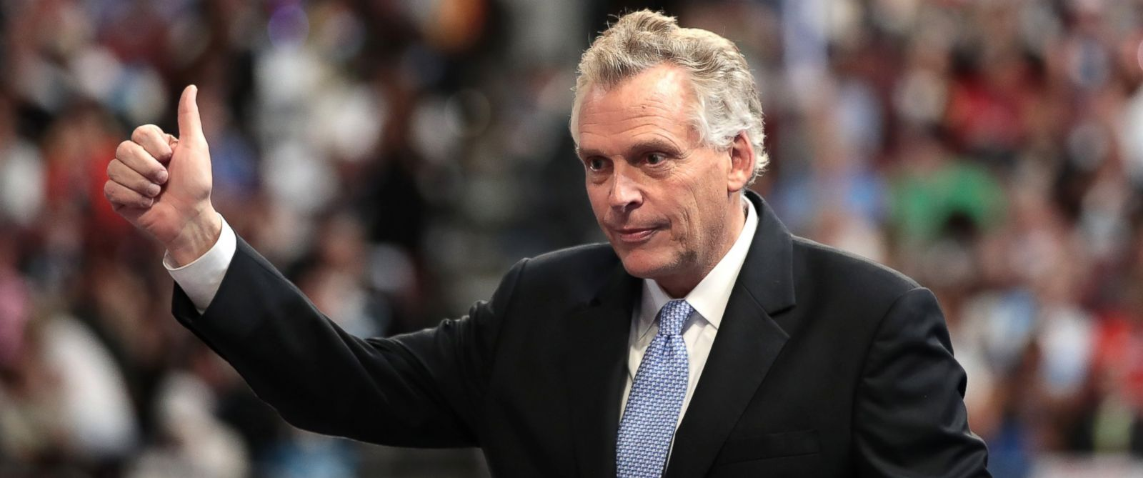 PHOTO: Gov. Terry McAuliffe delivers remarks on the second day of the Democratic National Convention at the Wells Fargo Center, July 26, 2016 in Philadelphia.
