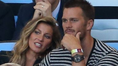 PHOTO: Gisele Bundchen, left, and Tom Brady, right, attend the 2014 FIFA World Cup Brazil Final match between Germany and Argentina at Estadio Maracana on July 13, 2014 in Rio de Janeiro, Brazil.