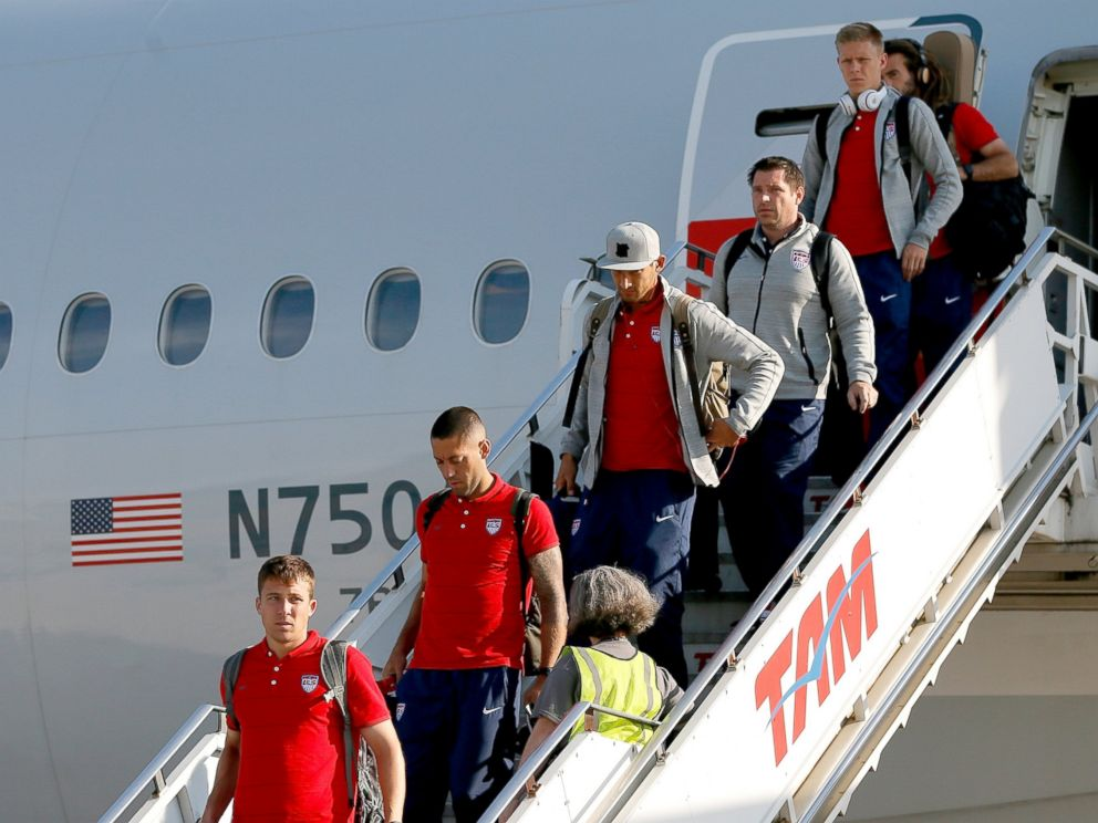 PHOTO: Team United States arrive at Sao Paulo International Airport, June 9, 2014 in Sao Paulo, Brazil ahead of the 2014 FIFA World Cup.