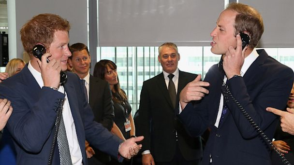 GTY william harry dm 130911 16x9 608 What Made Princes William and Harry Laugh at Charity Event?