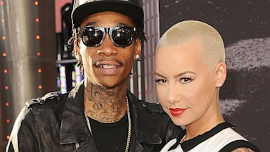 "PHOTO: Rapper Wiz Khalifa and Amber Rose attend the premiere of ""Fast & Furious 6"" at Universal CityWalk, May 21, 2013 in Universal City, California."