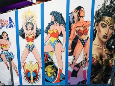 PHOTO: Wonder Woman is displayed at Comic-Con International 2016 preview night July 20, 2016, in San Diego, California.
