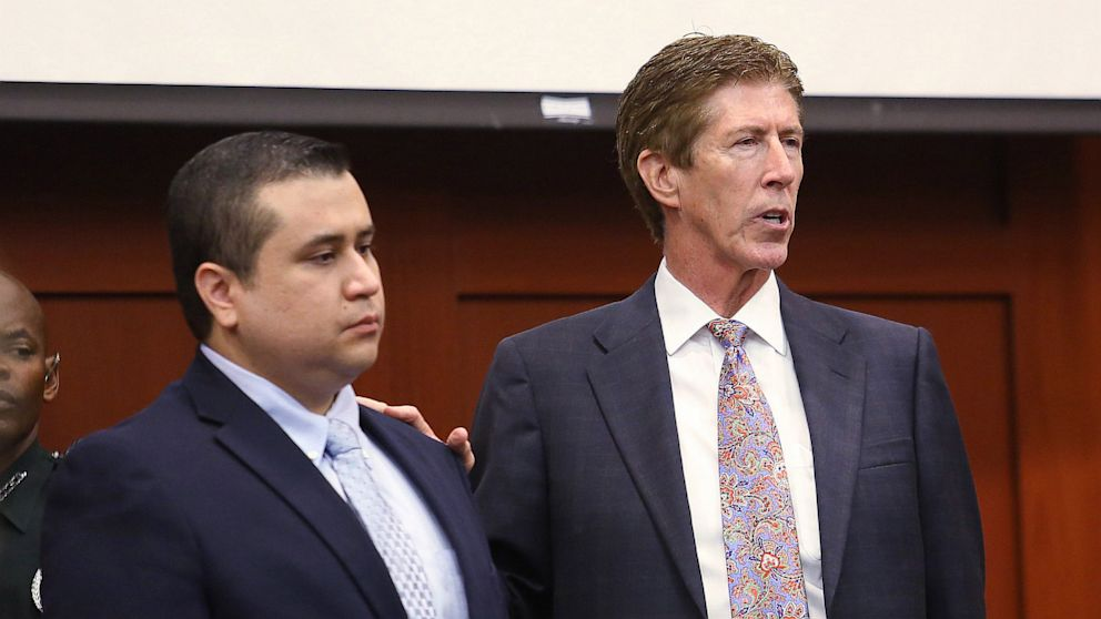 PHOTO: George Zimmerman and Defendant Defense attorney Mark OMara