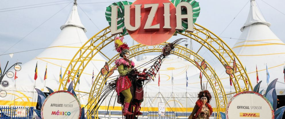 "PHOTO: A general view of the opening of Cirque Du Soleils ""Luzia"" at Port Lands on July 28, 2016 in Toronto, Canada."