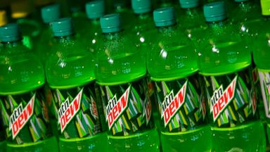 PHOTO: Bottles of Mountain Dew brand soda are seen in this file photo.
