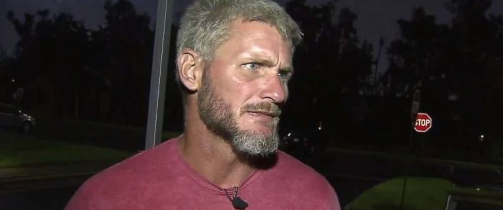 Travis Wilson, a homeless Navy veteran, rushed to help after two cars collided in Pembroke Pines, Florida.