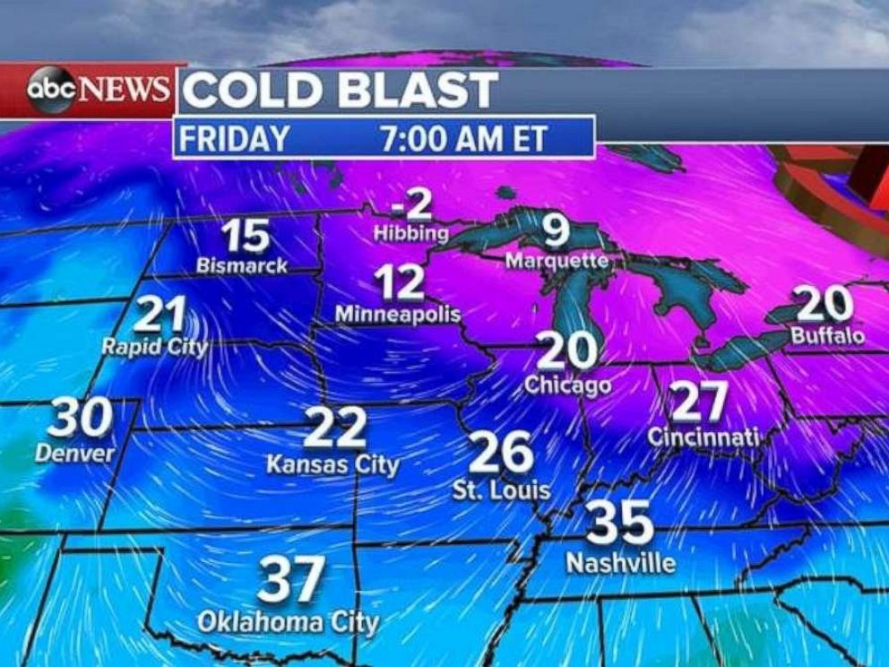 Arctic Blast Bringing Bitter Temps on Friday