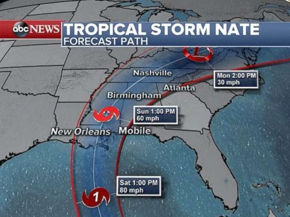 Nates projected track could lead to a hit on New Orleans this weekend.