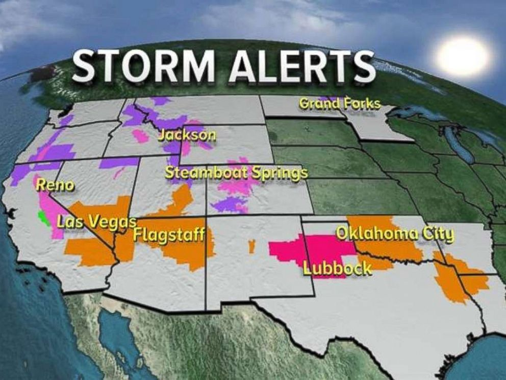 Storm alerts are in place from California to Louisiana on Friday, Nov. 17, 2017.