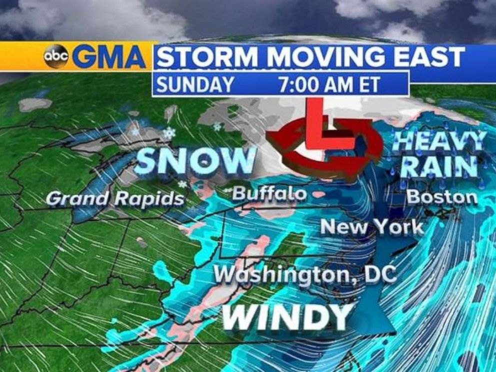 The storm will likely cause airport delays on Sunday, Nov. 19, 2017.