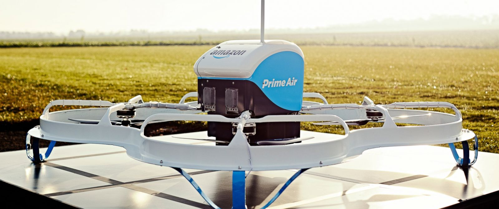 PHOTO: Amazon announced today its Prime Air drone has successfully completed its first delivery to a customer in England. While still in a beta trial, the service is expected to expand to the service to other countries.